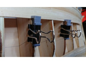 Hull planking clamps