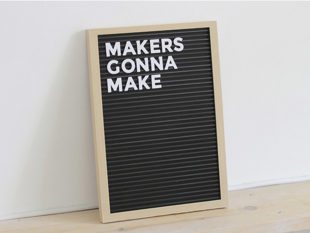 Letter Board Fully 3d Printed By Flowalistik Thingiverse