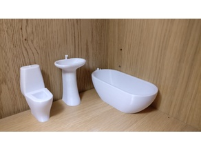 Dollhouse Bathroom Set 1:12