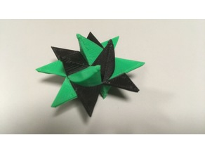 Printed version of the classical handcrafted paper star
