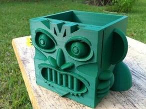 Mayan Cube Head #planter
