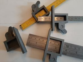 Marking Gauge with (Folding) Ruler - Customizable