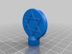 Star of David extruder spinner (fits MPSM et al)
