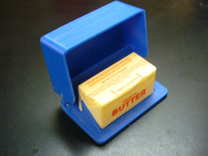 Butter dish hinged