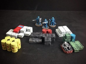 Sci-Fi Loot Markers (15mm scale)