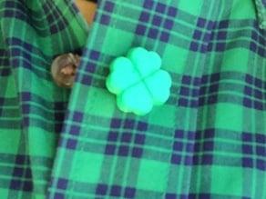 4 Leaf Clover Button or Cufflink