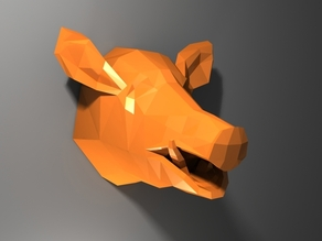 Low Poly Boar Head
