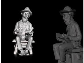 nonno statua - grandfather statue - grand-père statue - la estatua de abuelo