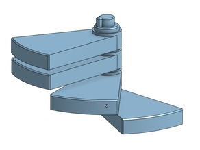Modular auto folding Spiral Staircase