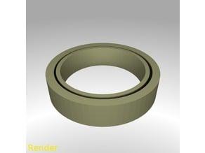 Fidget Ring Flat Thin - Size 7