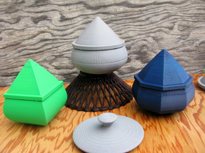 Pear Shaped Bowls and Lids