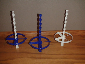 Small Whirly copter with a spiral spinner stick