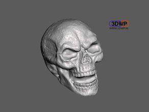 Skull Sculpture 3D Scan (Including Hollow Version)