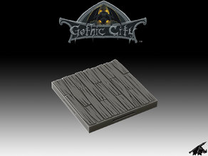 Tilescape GOTHIC CITY Wood Floor Tile - Our New KICKSTARTER is Now LIVE!!!!