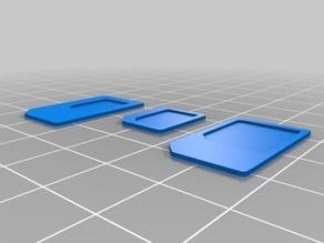 Sim adapters (mini, micro, nano)