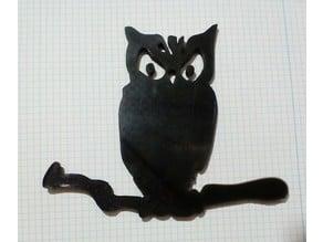 Owl silhouette, Silueta Buho