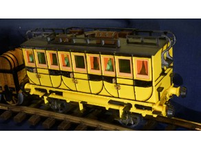 Passenger coach to the locomotive The Rocket 1:32