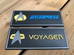 Star Trek Name plates