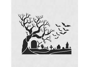 Graveyard stencil