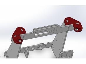 Anet A8 Z-axis anti-wobble top plates for 608Z bearings