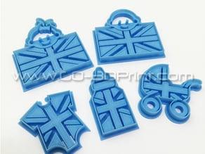United Kingdom Royal Family Babysuit Union Jack Iconic British Flag Cookie Cutter