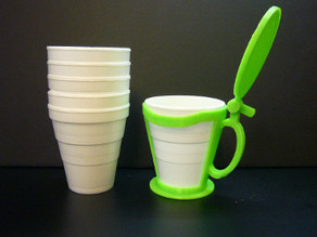 Foam cup holder w lid