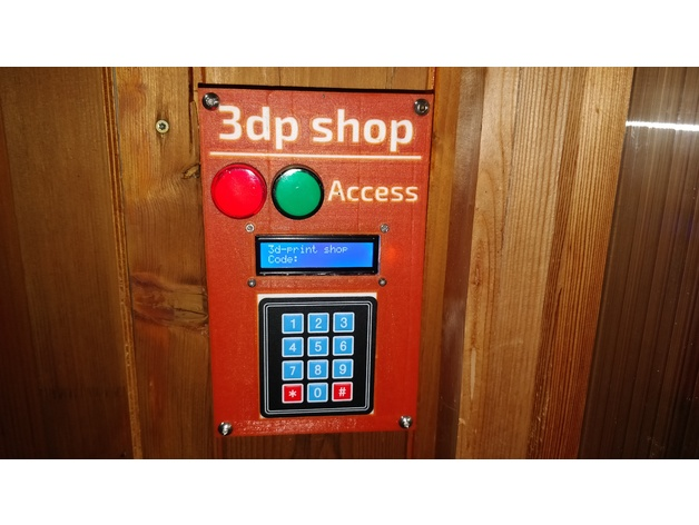 Simple Door Lock - 3D-Printing and Arduino Project by