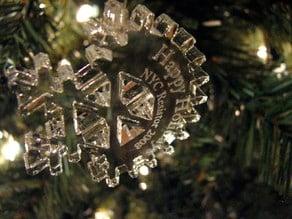 NYC Resistor Snowflake Ornament