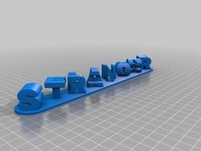 Triple Letter Blocks Ambigram STRANGER THINGS