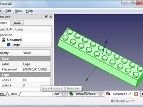 Parametrized Lego Bricks ported to FreeCAD