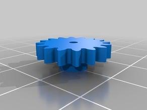 Microservo 1:2 (2x) multiplier gearbox 360