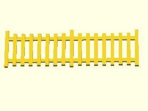 Customizable HO Scale Fence