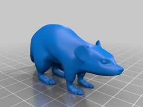 ねずみ(Mouse)3Dデータ