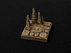 Cavern Stalagmite Floor Tile - OpenForge Compatible