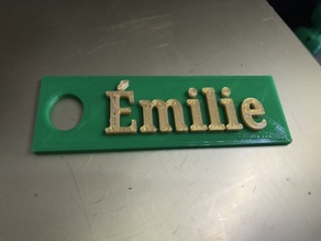 Émilie keychain