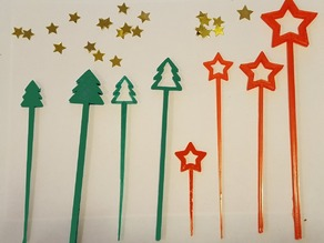 HOLIDAY PARTY PICKS AND SWIZZLE STICKS