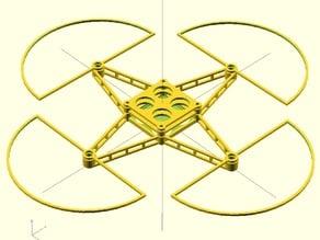 Parametric quad frame for mini/micro-quads