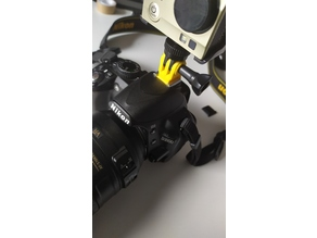 Cam support for Nikon flash slide