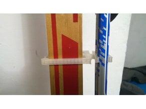 Customizable ski and poles holder