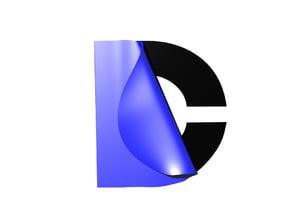 DC Logo in 3D