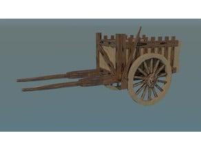 Carro de carga de madera