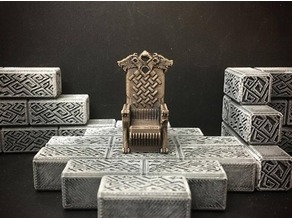 Delving Decor: Wolf Throne (28mm/Heroic scale)