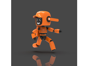 LD&R orange robot V2 | Semi pose-able