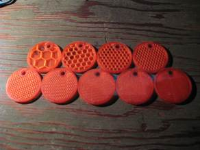Infill density sample cookies - Honeycomb