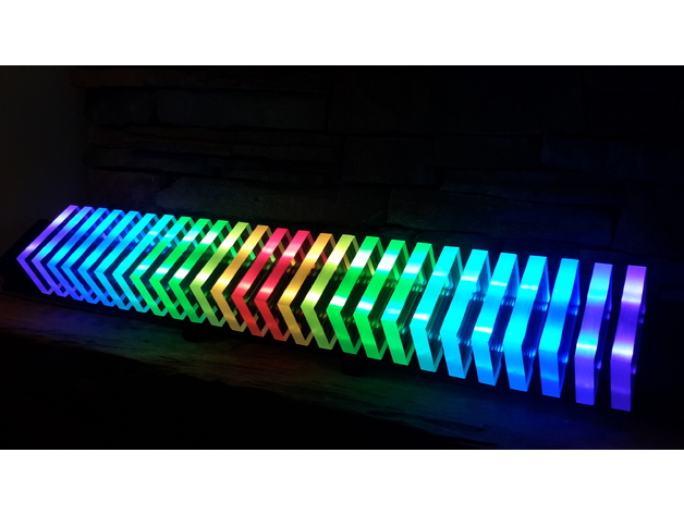Perspex Clear Acrylic Ws2812 Led Audio Interactive Light