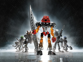 """Toa Nuva models from """"Bionicle: The Game"""""""