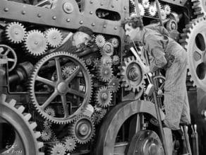 Litofania Chaplin Tiempos Modernos