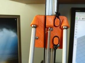 Cherry Pi IIIs V-wheel rod carrier with alternative belt fixings