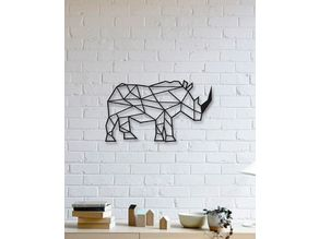 Rhino Wall Sculpture 2D