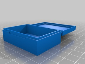 My Customized Parametric Hinged Box Plus, printable in one piece.
